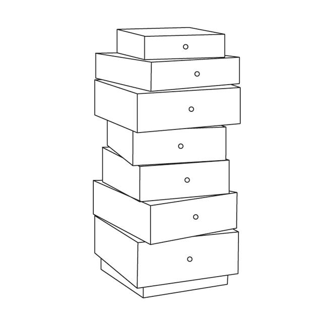 Stack of drawers